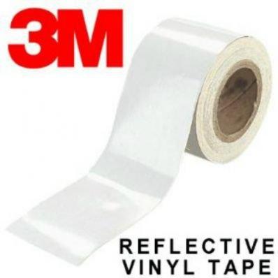 StickersLab - Pellicole adesive rifrangenti scotchlite MARCA: 3M serie 580 colore bianco (Larghezza - 25mm, Lunghezza - 1 metro)