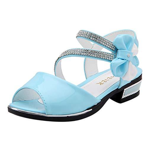 BURFLY Kleinkind Mädchen Bogen Kristall Prinzessin Schuhe Tanz Sandalen Kinder Süße Casual Sandalen