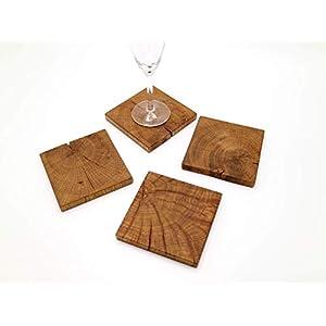 Untersetzer-Set aus Eichenholz