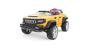 HENES BROON T870 24 Volt Voiture a 4 roues motrices 4x4 Luxe enfants voiture électrique avec Tablet PC Couleur orange