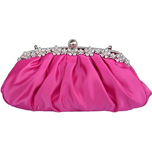 YYW Evening Bag, Poschette giorno donna bright rosy red