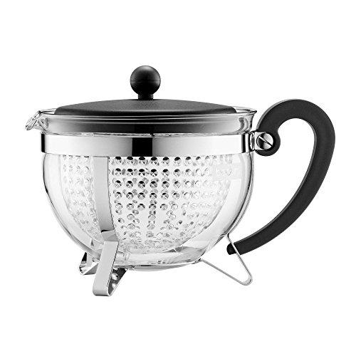 Bodum CHAMBORD Teekanne (Farbiger Plastikdeckel, Filter, Hitzebeständig)