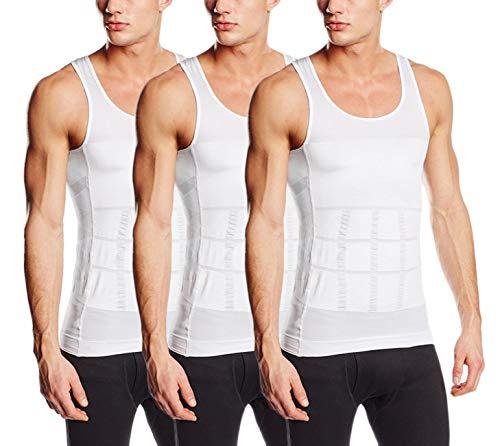 endes Unterhemd für Herren - Kompression im Bauchbereich (XL (52-54), 3X Weiß) ()