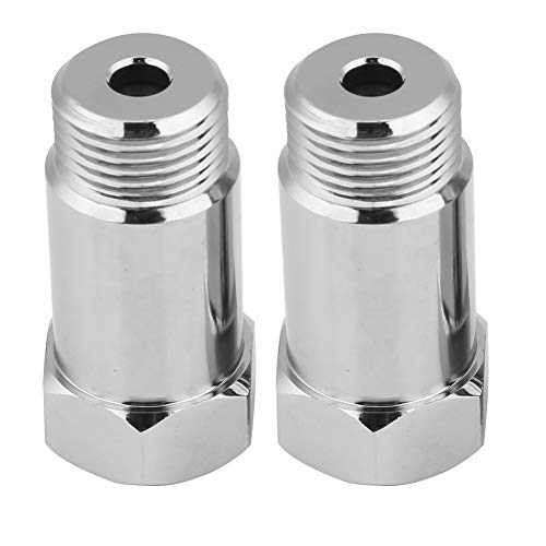 2Pcs Universal O2 Sensore di ossigeno Distanziatore Adapater Extender Isolatore per sistemi di scarico con fori sensore M18 x 1,5