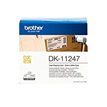 Brother DK-11247 Label Roll, Large Shipping Labels, Black on White, 180 Labels, 103.6mm (W) x 164.3mm (L), Brother Genuine Supplies