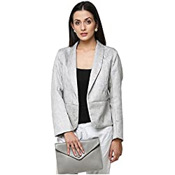 Yepme Debra Casual Blazer - Grey -- YPMBLZR5007_XL