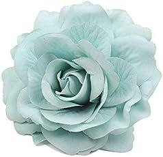 Voberry Hair Clip Rose Flower Hairpin Wedding Festival Beach Headdress Brooch