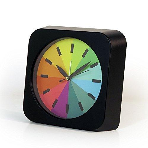 hemara Moderne und kreative rund Rainbow leise nicht Sekundenzeiger, Quarz Analog Schreibtisch...