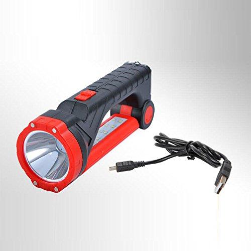 Zantec Lampe-torche légère multifonctionnelle de 3W LED Lampe-torche rechargeable solaire et électrique rechargeable de lampe de bureau pour l'usage à la maison extérieur