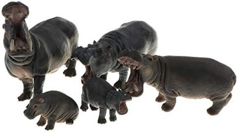 perfeclan 5pcs Hippopotame Animal Savane en Plastique Action Figure Jeux  s Figurine Jouet de Collection | Pour Gagner Un Haut Admiration Et Est Largement Trusted Et à L'étranger