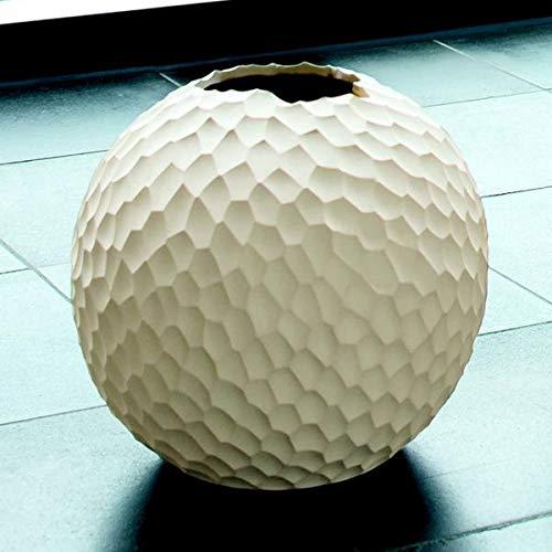 ASA 1339011 Kugel-Vase/Blumenvase - Feinsteinzeug - Farbe: Creme - Ø 21 cm - Höhe 20 cm