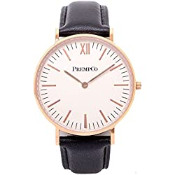 Prempco - Nobel - Ladies Watch - Ivory White - Rose Gold - Quick Change Watch Wrist Band in Black
