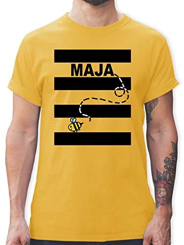 Karneval & Fasching - Bienen Kostüm Maja - L - Gelb - L190 - Herren T-Shirt und Männer Tshirt (Willy Mann Kostüm)