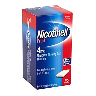 Nicotinell Nicotine Gum, Stop Smoking Aid, 4 mg, Fruit, 96 Piece by GSK Consumer Healthcare Trading (UK) Ltd