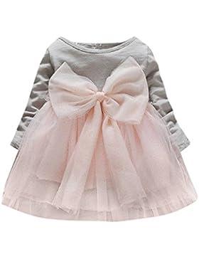 Vestido Bebe Niña, K-youth® Invierno gran bowknot tutú Ropa Bebe Niña Manga Larga Princesa Vestidos Niña Fiesta...