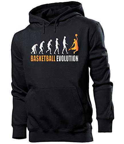 Golebros Basketball Evolution Fan Männer Herren Hoodie Pulli Kapuzen Pullover Sweatshirt Artikel