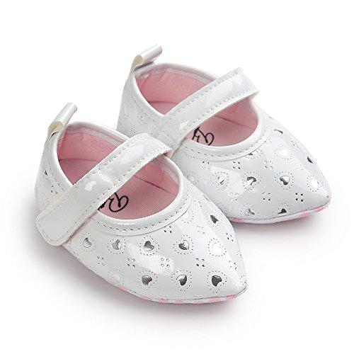 ESTAMICO , {Chaussures premiers pas pour bébé (garçon) blanc blanc 0-6 mois Blanc
