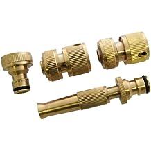 Amtech U2520 Brass Hose Fittings, 4-Piece