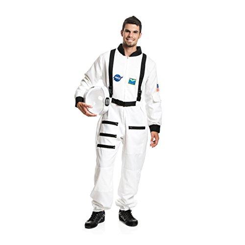 Kostümplanet® Astronauten-Kostüm Herren Kostüm Astronaut Weltraum Raumfahrer Größe XL (Weiß Astronaut Kostüm Für Erwachsene)