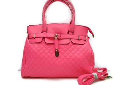 New Choice - sac à main - cabas - fluo - rose - porté main - porté épaule - bandoulière - fourre tout