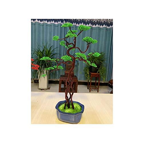 YLYWCG Grüne Simulation Künstlicher Bonsai Ceder Gefälschte Baum Pflanze Dekor for Table Room Home Bonsai, 3.9x11.8inch