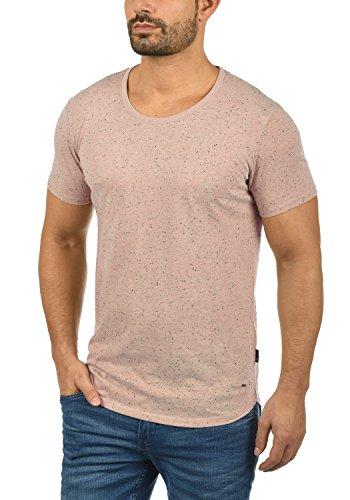 !Solid Thias Herren T-Shirt Kurzarm Shirt Rundhalsausschnitt Brusttasche Aus 100% Baumwolle Meliert Mahog. Rose (4203)