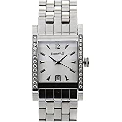 Eberhard 41028scp Women Quartz Watch (Rechargeable) quandrante White Strap Stainless Steel