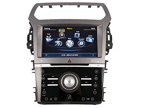 Auto Stereo-navigations-systeme (REALMEDIA Ford Explorer MAN A/C OEM Einbau Touchscreen Autoradio DVD Player MP3 MPE4 USB SD 3D Navigation GPS TV iPod USB MPEG2 Bluetooth Freisprecheinrichtung +++mit REALMEDIASHOP Garantie+++)