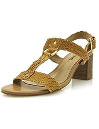 Via Uno Sandalias De Cuero Cuero Sandalias Aspecto De Cocodrilo Zapatos De Verano 10944602
