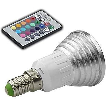 E27 3W LED RGB Glühbirne LED Farbwechsel AC 85V-265V 180LM IR-Fernbedienung DE