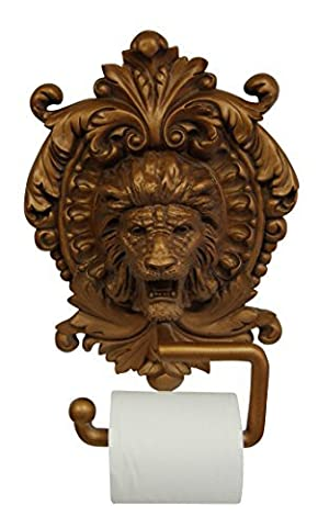 Hickory Manor House Lion Medallion Plaque Toilet Paper Holder, Antique Gold by Hickory Manor House
