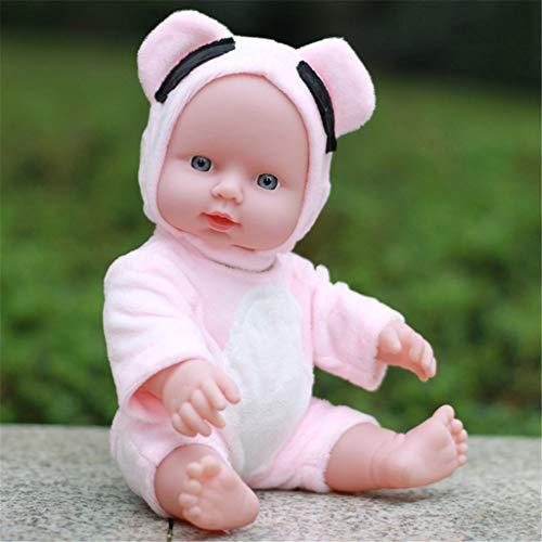 WDTong Muñeca de bebé, Juguete Suave de Silicona para recién Nacidos, Regalo para niños pequeños, 17, pequeño