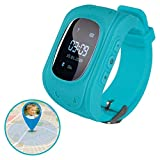 Kinder Smart Watch | Smartwatch| Armbanduhr | GPS, Telefon, Sprachnachrichten, Standortlokalisierung per App, Ortung, Tracker | Kein Handy notwendig - verwendbar mit Micro SIM Karte (Blue)