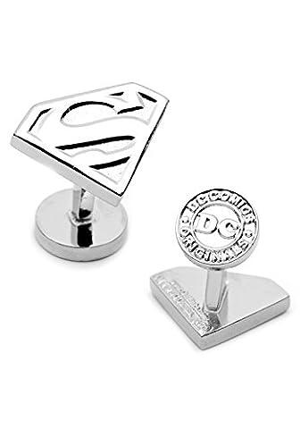 Silver Superman Shield Cufflinks Standard