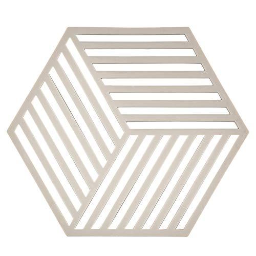 Dessous de Plat Design Hexagone Silicone Gris