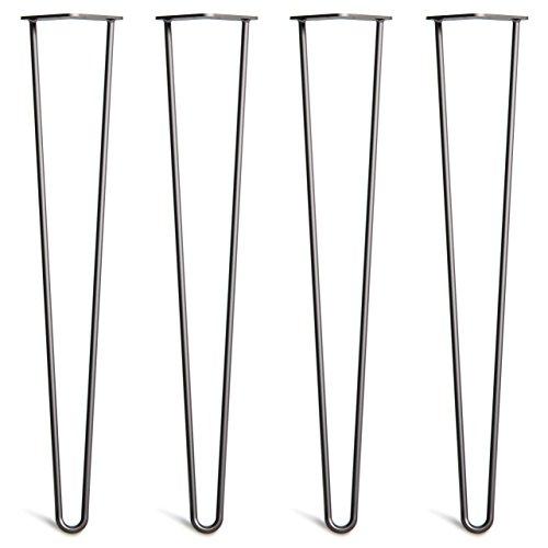 Schrank Leg (4x Haarnadel Tischbeine Austauschbare Tisch&Schrank Beine für Heimwerker - Mitte des Jahrhunderts Modern Stil - Verfügbar in Höhe von 10cm-86cm - Freie Bodenschoner und Schrauben)