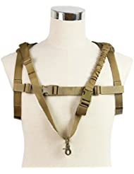 Airsoft One point Sling tactique One point Sling Heavy Duty militaire Armée Airsoft Sports de plein air Chasse Htuk®