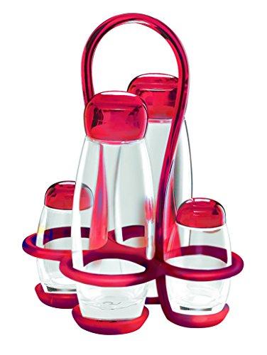 guzzini-rosso-23130065-menage-modello-bolli-gocce-set-condimenti-olio-aceto-sale-pepe