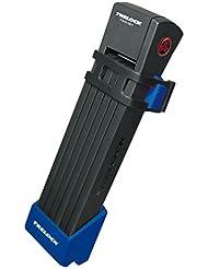 Faltschloss Trelock TWO.GO L mit Halter FS200/100 blau m.Halter ZF200,Schlüssel