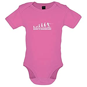 Born To Wakeboard - Lustiger Baby-Body - Bubble-Gum-Pink - 3 bis 6 Monate