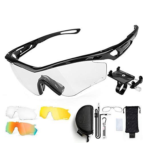 ZHLZH Radsportbrille/Radsportbrille Polarisierte, polarisierte Sportsonnenbrille Driving Sun Glasses Shades für Herren Geben Sie einen soliden Handyhalter,Black
