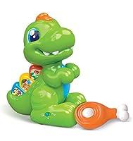 Il simpatico Dentino è un cucciolo di dinosauro che parla e cammina andando su e giù. Spingendo i tasti sulla sua schiena e sulla testa Dentino cammina e gira su se stesso muovendo il suo simpatico sonaglino. Elettronico educativo, Dentino in...