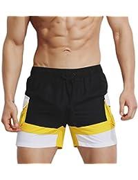 15fcd02e5ba Logobeing Verano Hombre Bañadores Pantalones Cortos de Baño Transpirable  Desgaste Delgado Traje de Baño Boxers Deportivos