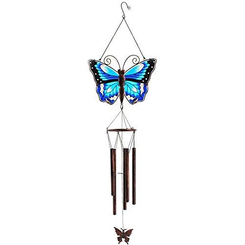 Quelque Chose de différent Papillon Carillon, Bleu/Marron, 25 x 0.2 x 89 cm