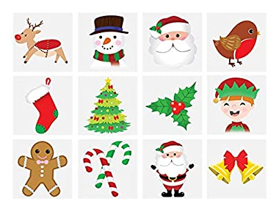 Henbrandt 48 x Christmas Children's Temporary Tattoos (4 Packs of 12) : everything £5 (or less!)