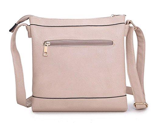 LeahWard® Klein Größe Damen Kreuzbeutel Damen AKreuz Handtaschen D0023 L.blau Doppelt Tasche