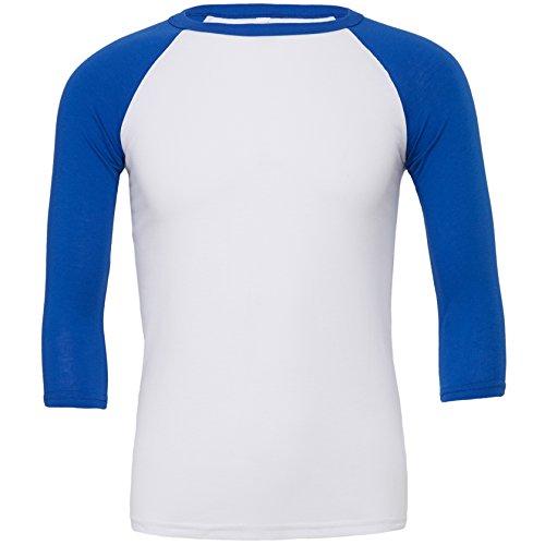 Triblend ¾ Ärmel Baseball T-Shirt Weiß / Wahre Königs