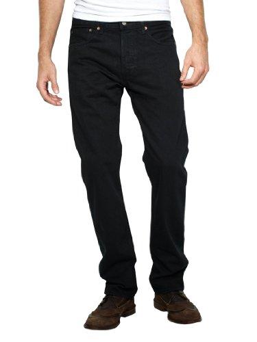 Levi's Uomo 501 Jeans originali, Nero, 44W x