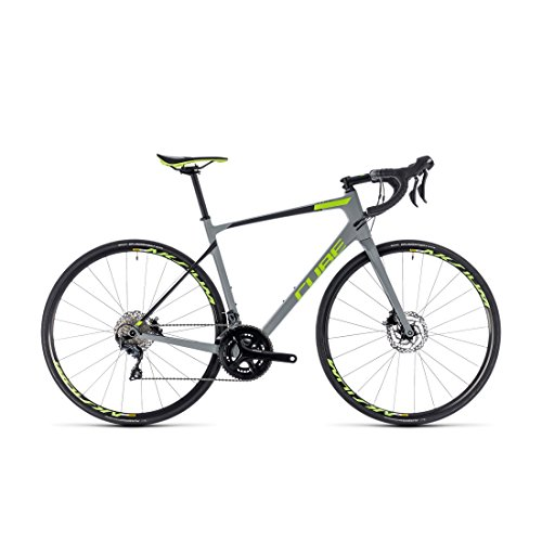 Rennrad Cube Attain GTC Race Disc Grey N 'Green 2018 – 56 cm (Tapered Cube)