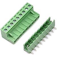 willwin 5,08mm Pitch Rechts Winkel 4pol PCB steckbar Terminal Block Anschlüsse 09P x 10 Set